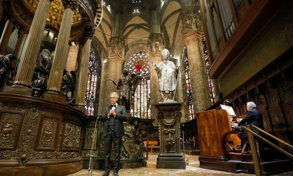 Andrea Bocelli na Catedral de Milão