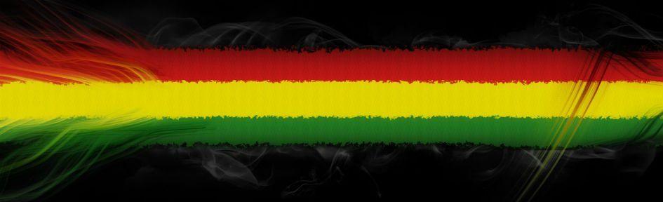 Bandeira nas cores do reggae