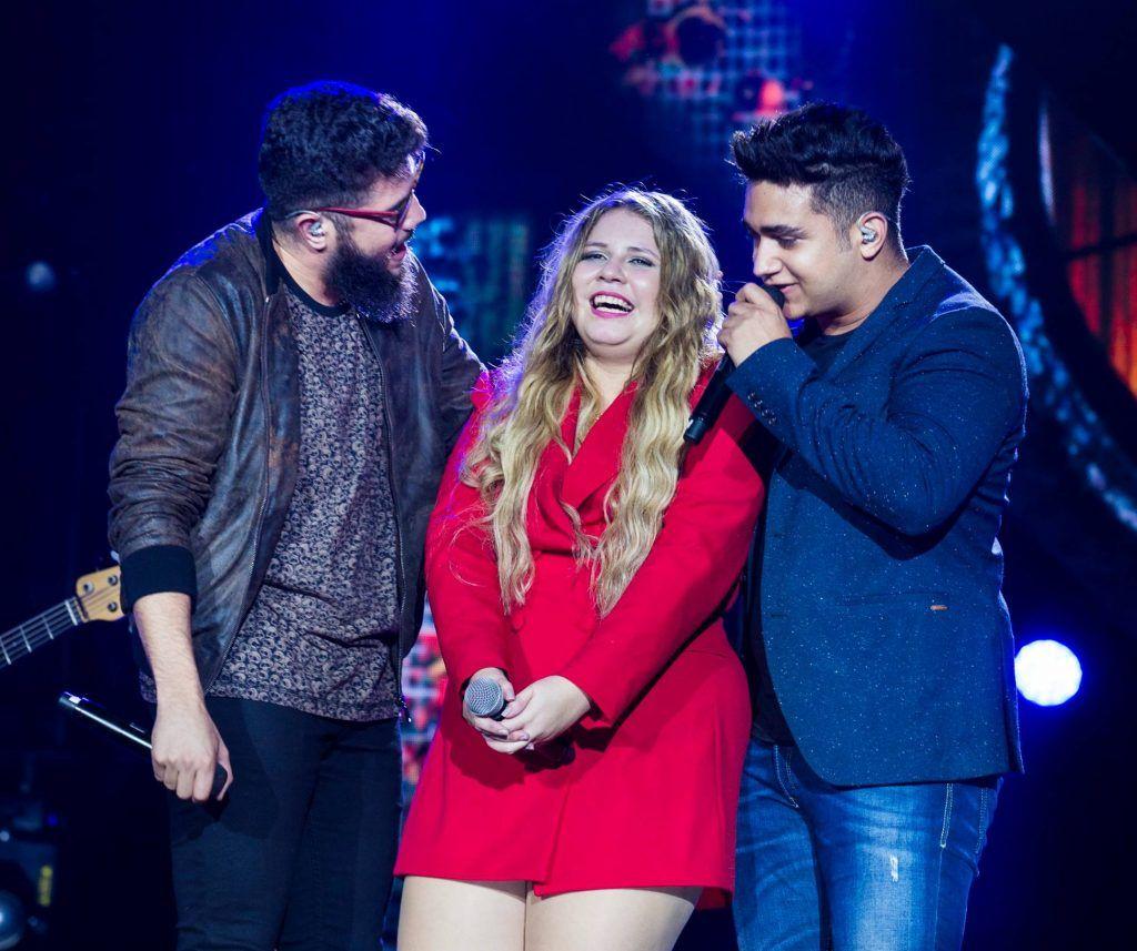 Henrique, Marília Mendonça e Juliano, trinca de ouro