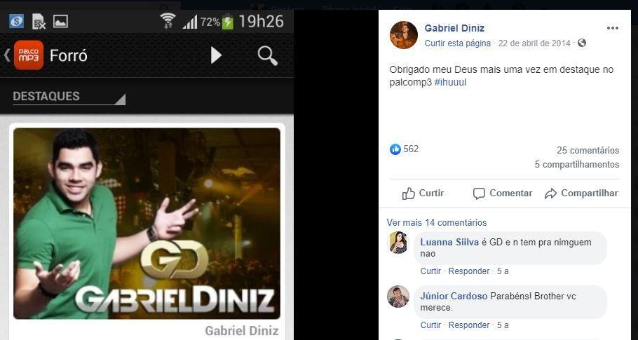 gabriel Diniz sempre foi parceiro do Palco MP3