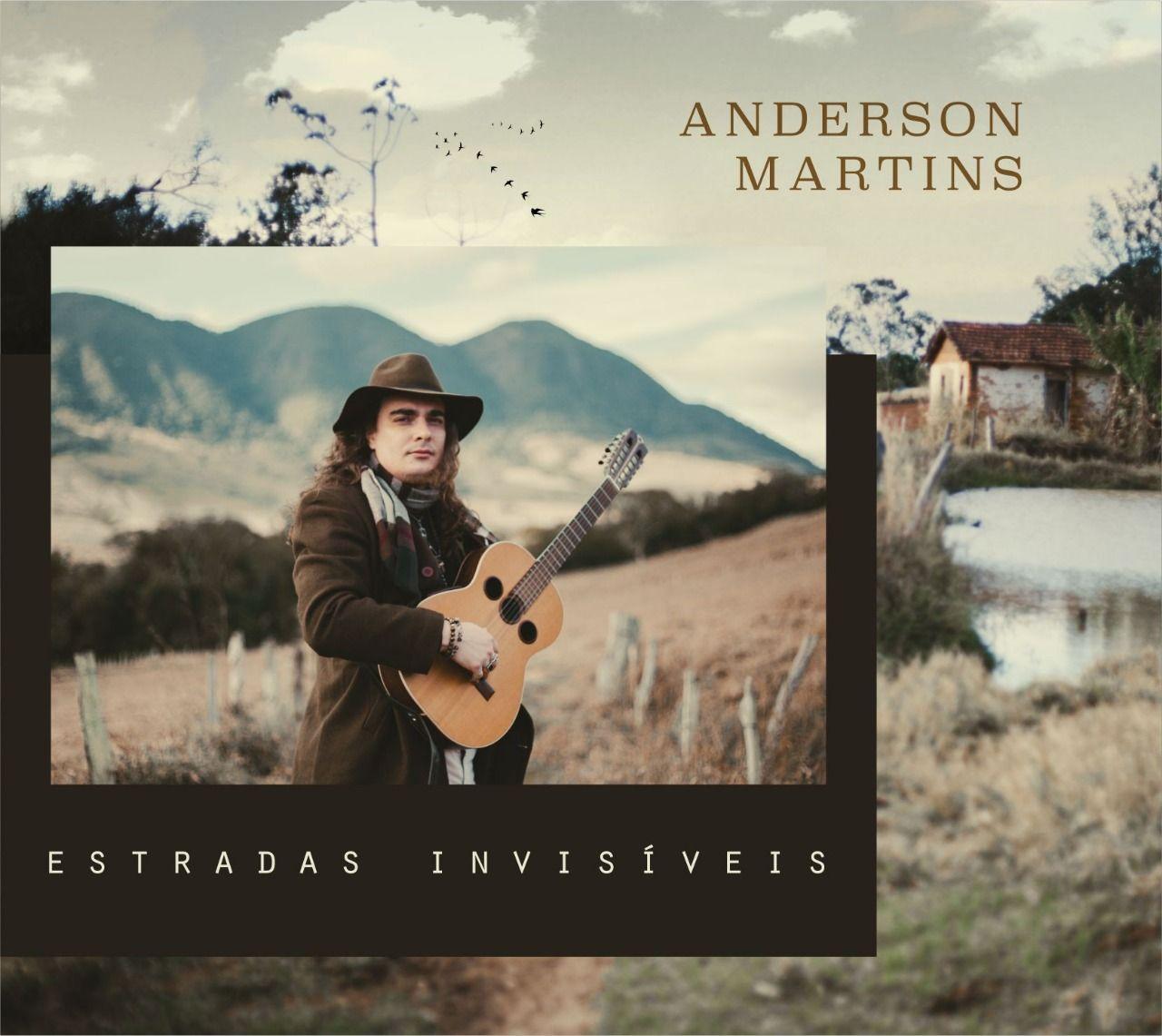 Capa do disco Estradas Invisíveis, segundo trabalho de Anderson Martins
