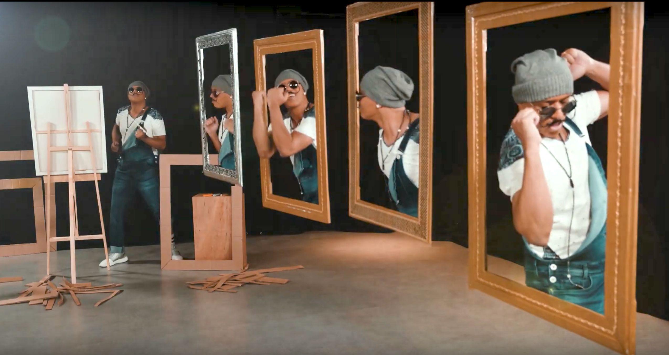 Korinha é pintor surrealista em clipe de Pensando nessa raba