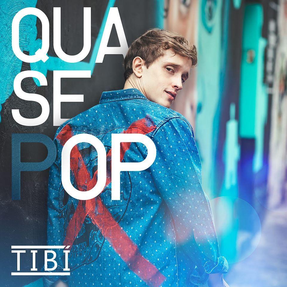 Capa de Quase Pop, disco de estreia do músico Tibí
