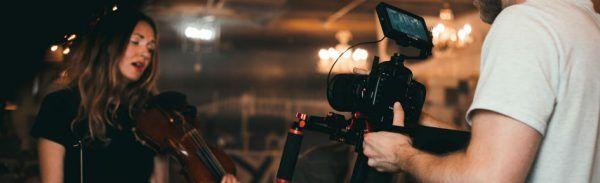 Violinista é filmada