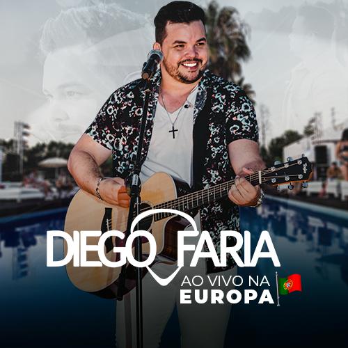 Capa do DVD Ao Vivo na Europa, do cantor Diego faria