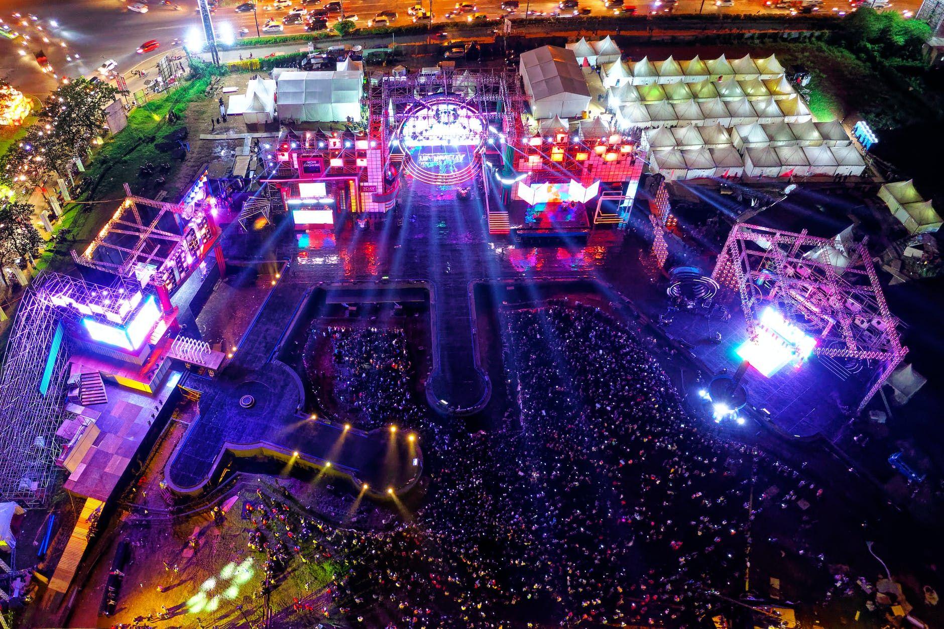 Plateia de um festival