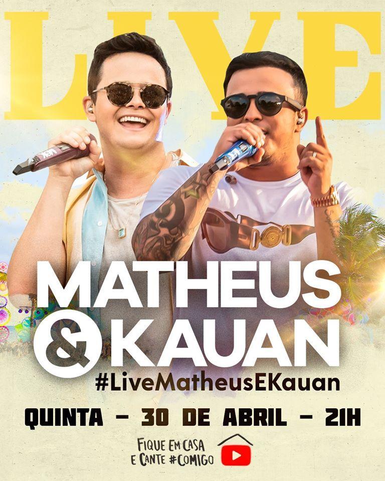 Dupla Matheus & Kauan divulga live