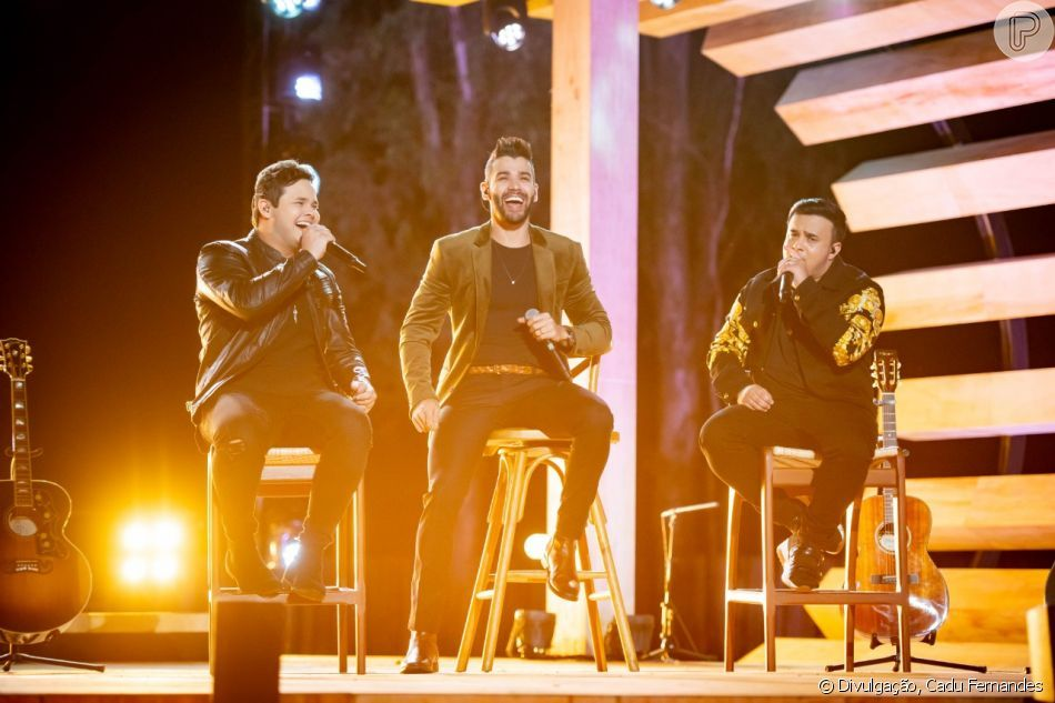 Gusttavo Lima canta com a dupla Matheus & Kauan