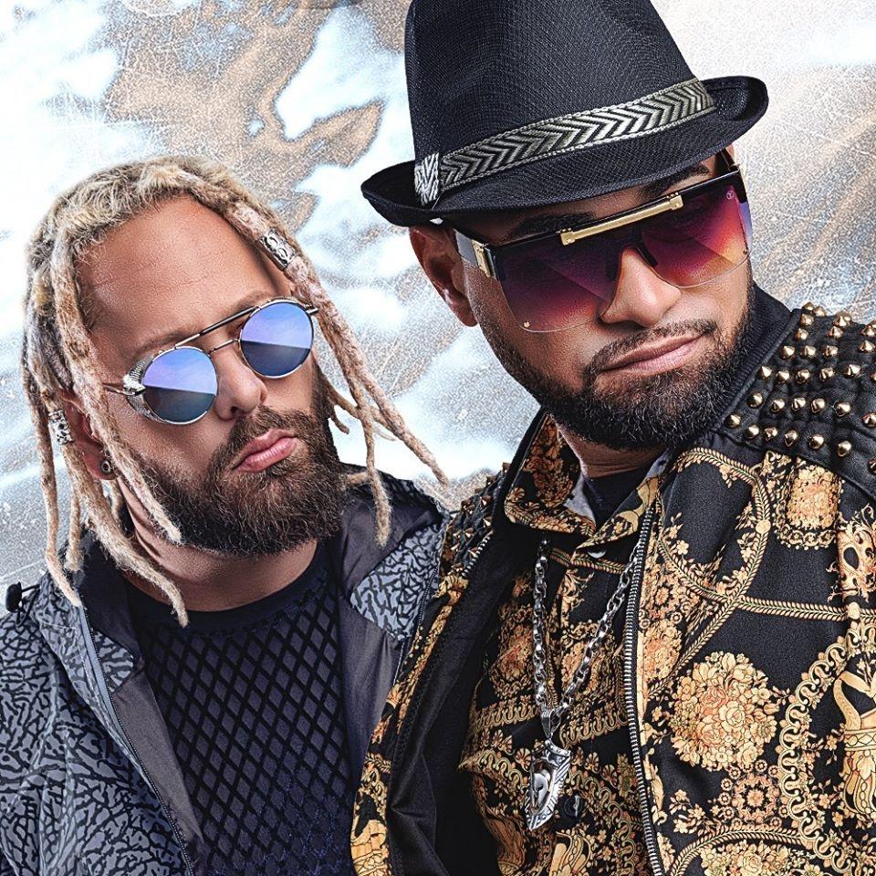 Integrantes da Tribo da Periferia, dupla de rap