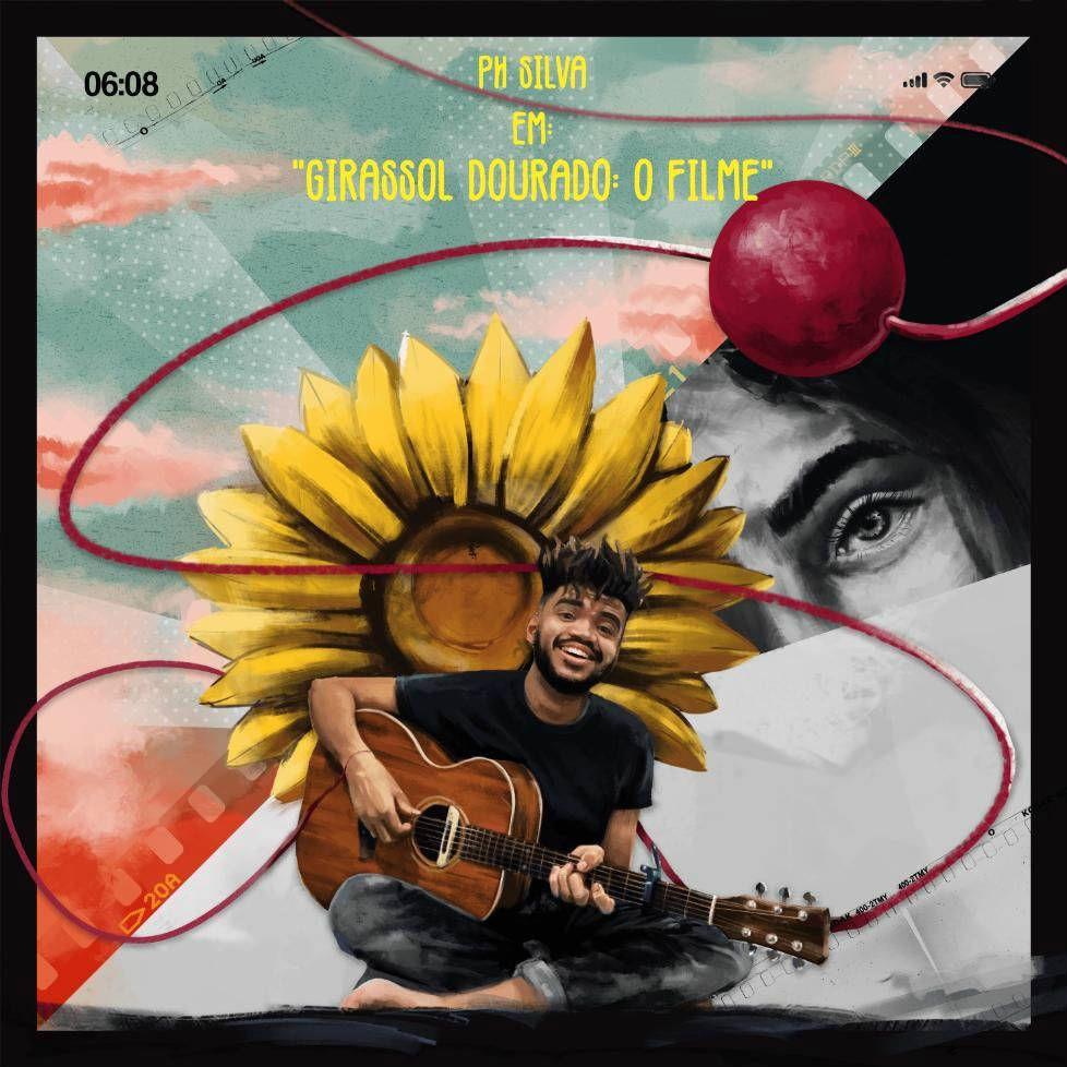 Capa do disco O Girassol Dourado: o filme, novo trabalho de PH Silva