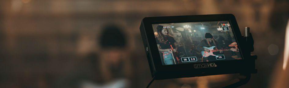 Camera grava artistas de música