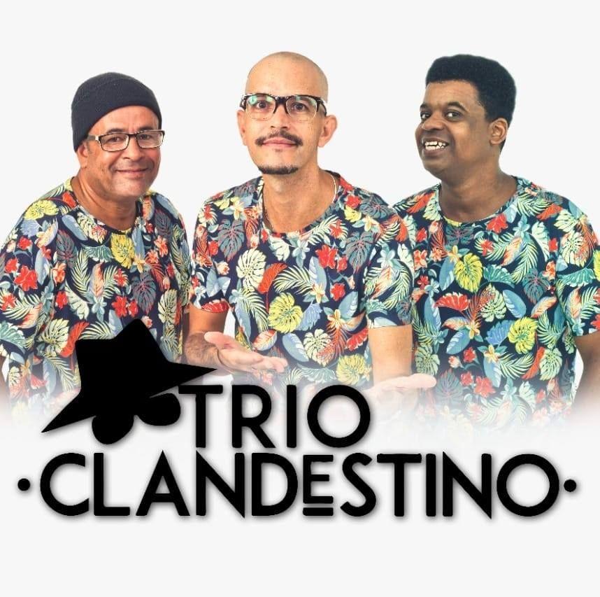 Imagem mostra os membros do Trio Clandestino, grupo de forró da cena independente