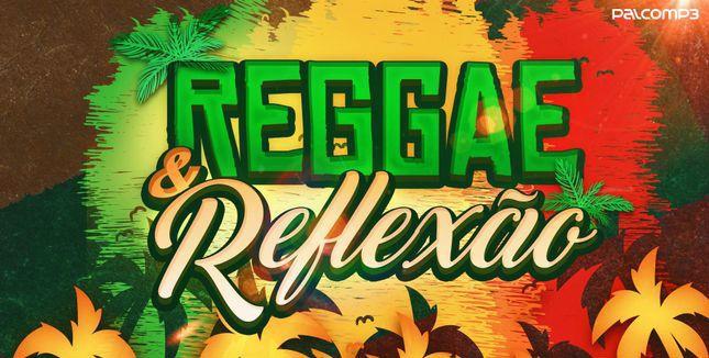 Imagem estilizada coma s coreas do reggae divulga playlist do Palco MP3