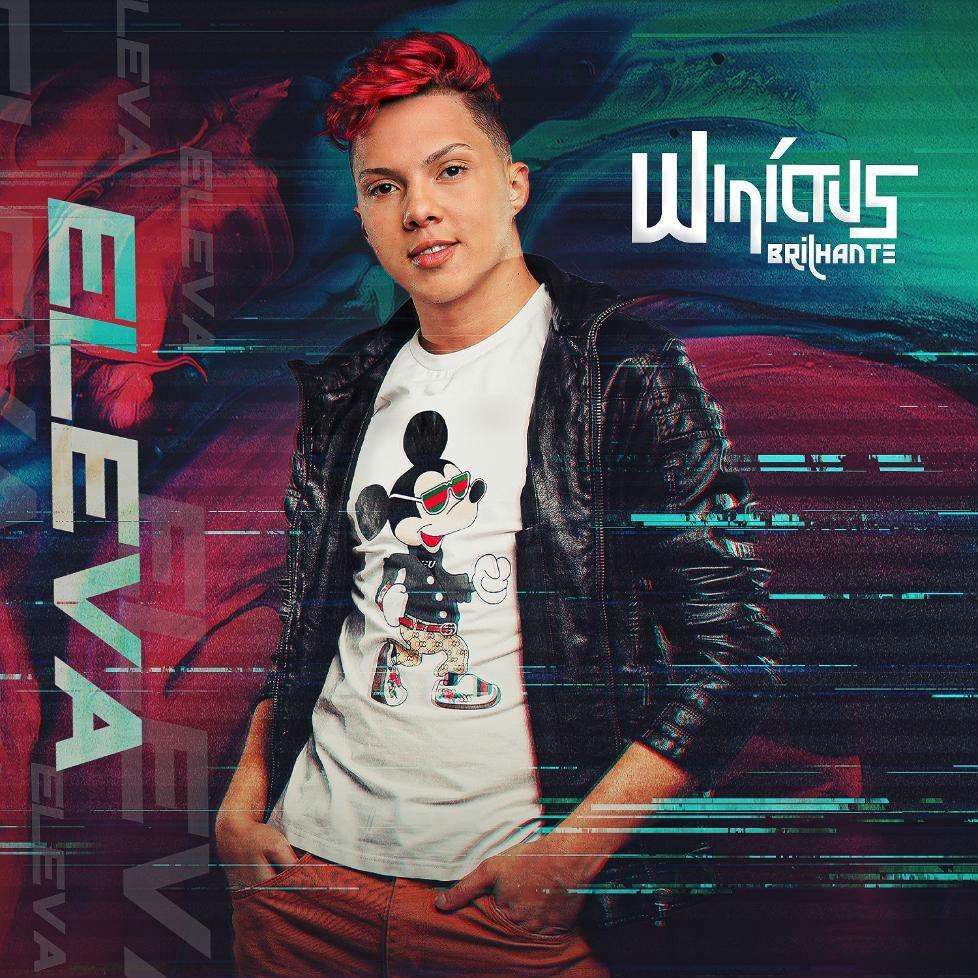 Winícius BRihante posa na capa do disco Eleva