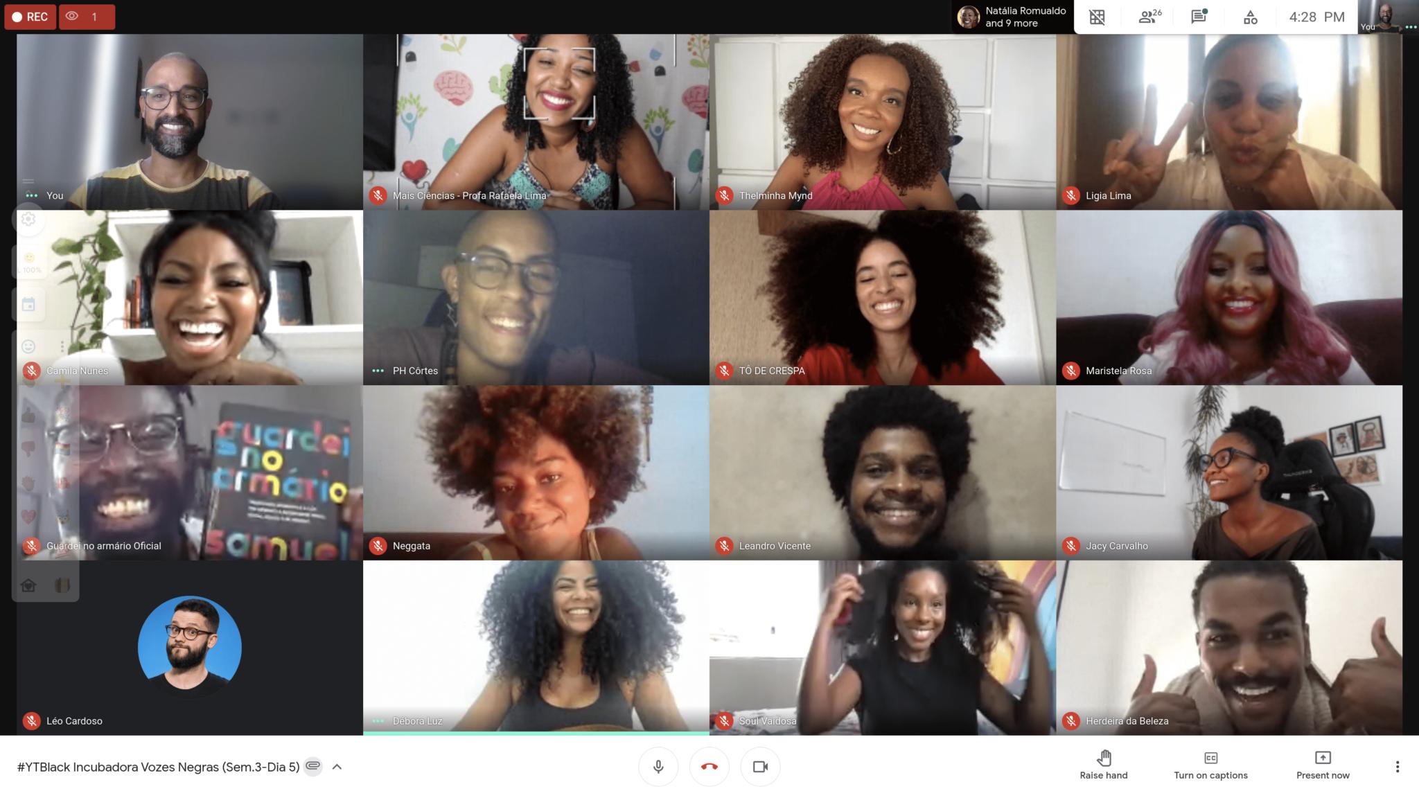 Participantes do Vozes Negras 2021