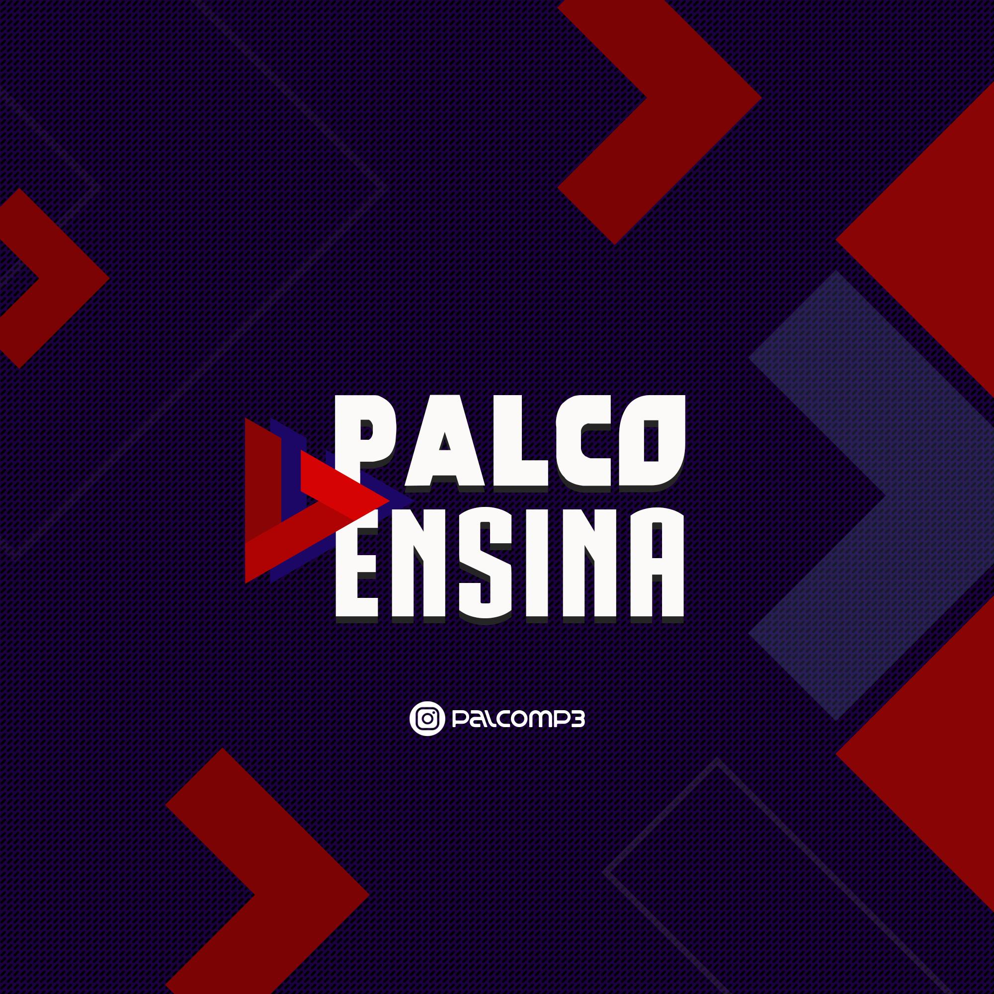 Palco Ensina logo e Instagram @palcomp3
