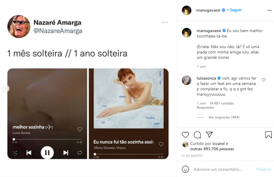 Marketing pessoal para artistas: Manu Gavassi e Luísa Sonza