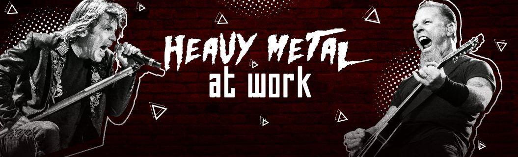 Ouça uma seleção heavy metal pra dar aquele gás no trabalho