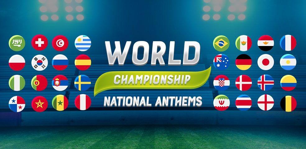 World championship national anthems