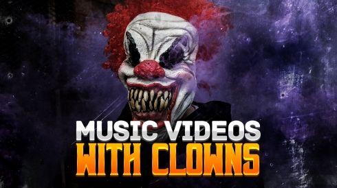 Music videos with clowns