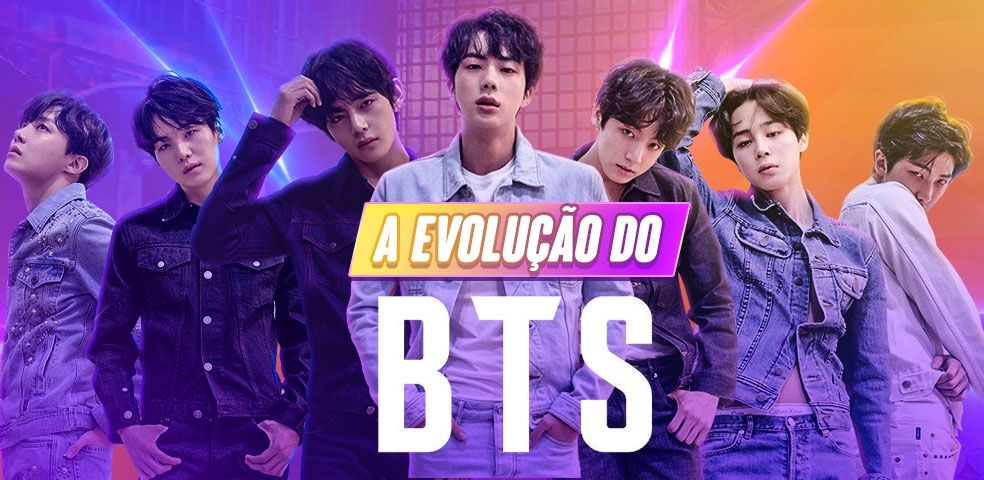 banner playlist do grupo BTS